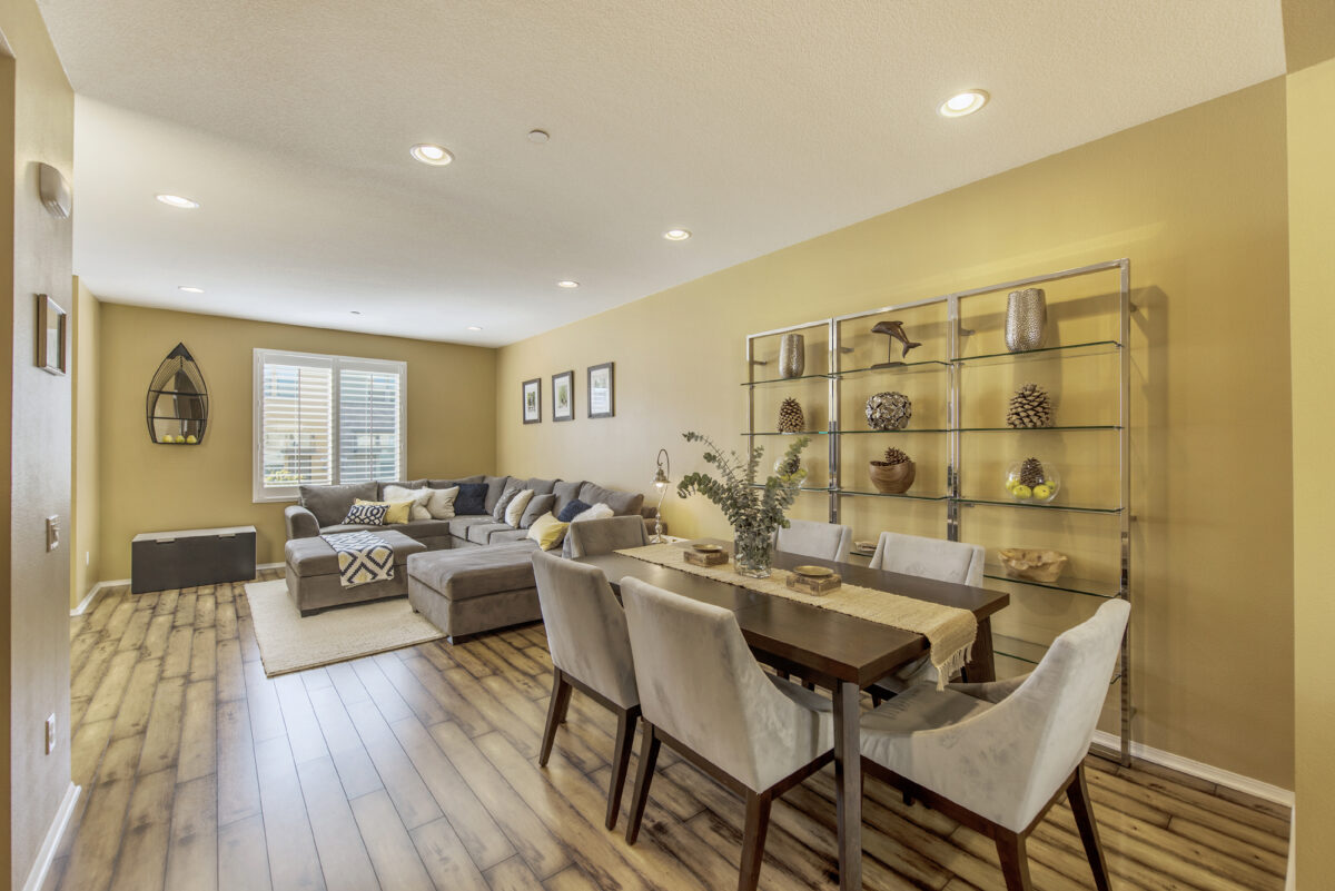 Open dining and living