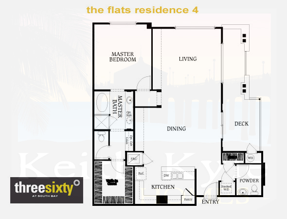 The Flats Residence 4 1 Bedroom 1 1 2 Bath Single Level Condo In 360 South Bay Three Sixty At South Bay