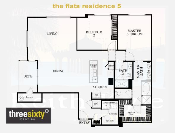The Flats Residence 5 2 Bedroom 2 Bath Single Level Condo